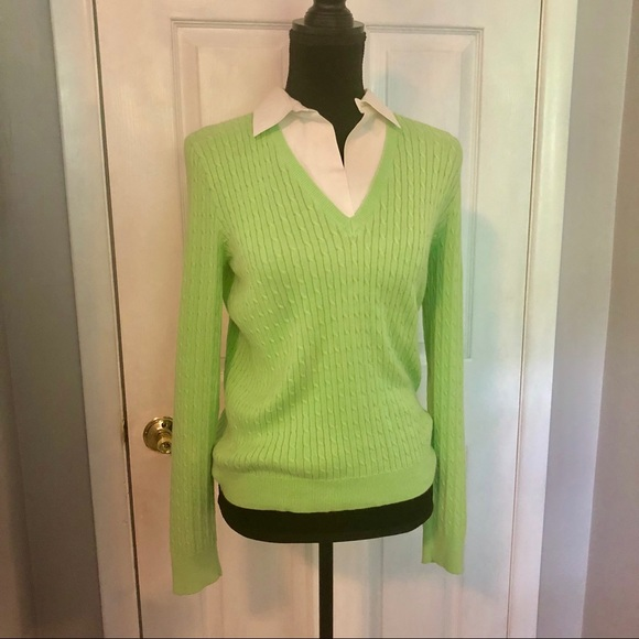 Ralph Lauren Polo Sweater With Built In Collar